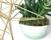 Mint Ombre Planter Porcelain Pottery White and Mint MADE TO ORDER