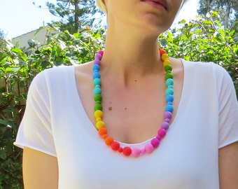 Rainbow Necklace - Silicone Necklace
