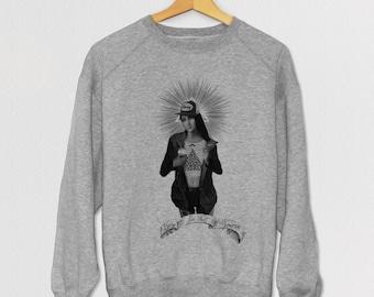 Yolo Maria hand screened sweatshirt