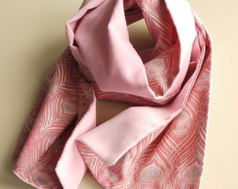 Pink Velveteen and Liberty Caesar Scarf