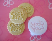 GOOD LUCK COOKIE Stamp recipe and instructions - make your own decorative cookies