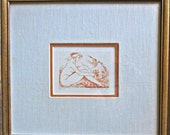 AMANDINE DORE: Signed by Listed French Artist, Limited Edition Etching Print  ( #43 Of 150 )
