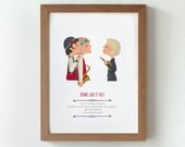 Illustration. Some like it hot. Billy Wilder.  Print. Wall art. Art decor. Hanging wall. Printed art. Decor home. Gift idea. Sweet home.