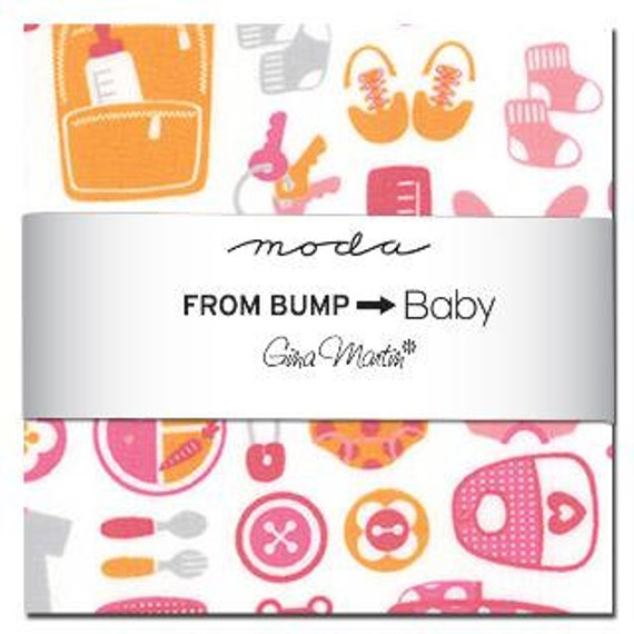 from bump to baby charm pack by martin for moda