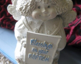 Abbey Press Blessings on Your Baptism figurine MINT