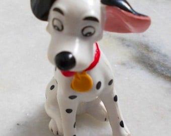 101 Dalmatians. Disney Figurine. Rubber Puppy Dog. Cartoon Dog. 90s Miniature Toy. Dog Lover. Blossom, MTO