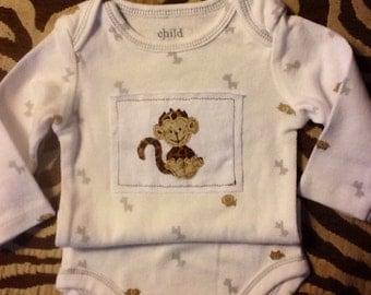 Joyful Monkey infant/baby onesie