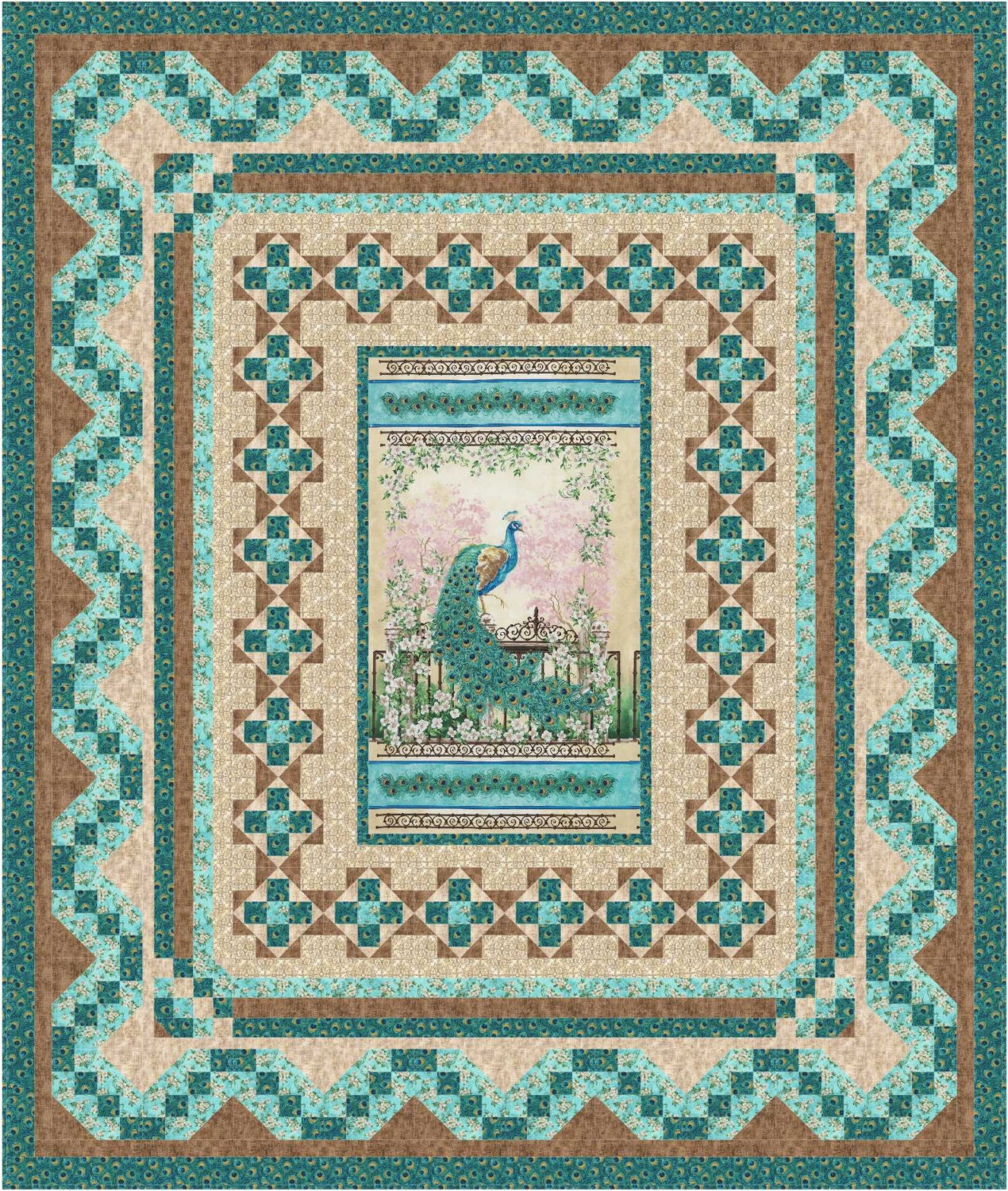 Instant Download Persian Mosaic Quilt Pattern By