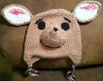 Joey the baby kangaroo crochet hat