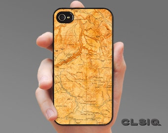 Vintage Yellowstone Park/River Map iPhone Case for iPhone 6, iPhone 5/5s, or iPhone 4/4s, Samsung Galaxy S6, Galaxy S5, Galaxy S4, Galaxy S3