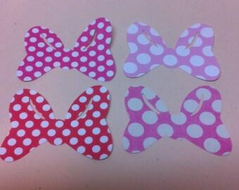 Die cut Minnie Mouse bows