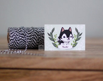 Husky Small Note Cards