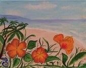 Flowers in Paradise  - Original Framed Painting - Last day at this SALE price