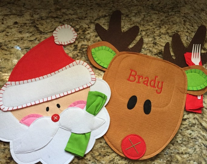 Christmas Santa and Reindeer Placemats