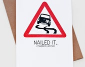 Nailed It - Driving Test Card
