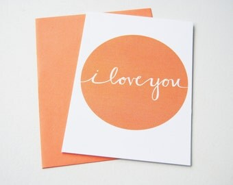 i love you greeting card // blank inside