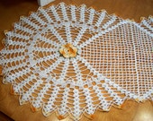 Lovely Large Doily - Centrepiece - Yellow Roses - Handmade crochet.