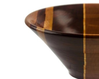 Charming Bowl From A Board Segmented Bowl  FB6136 in padauk, curly maple, cherry, holly, yellowheart, bloodwood