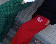 Monogrammed Pajama Pant and Shirt Set - Christmas Day-Youth - Adult Sizes
