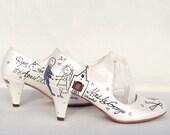 Wedding Shoes - Handpainted Customized - Wedding Chapel