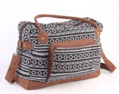 Native American Large Weekender Bag, Hipster College Bag, Holiday Bag Navajo Tribal Print