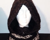 Charcoal Hooded Cowl