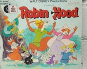 Robin Hood. Walt Disney Children's Book. Circa 1963. Disneyana. Bedtime Story. Nursery Decor for Boys and Girls.