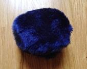 Navy Faux Fur Earmuffs Deadstock NWT