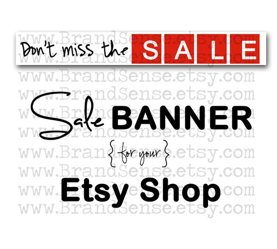 Etsy Shop Banner - Don't Miss The Sale Banner for your Etsy Shop INSTANT DOWNLOAD