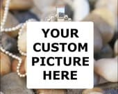 YOUR CUSTOM PHOTO Custom Picture Jewelry Glass Tile Pendant Charm Necklace Keyring