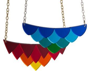 Scales necklace - laser cut acrylic