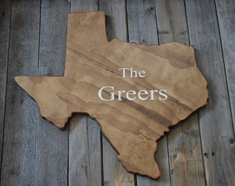 Natural Wood Texas Flag