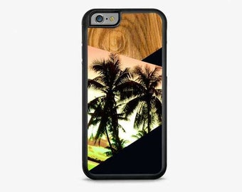 IPHONE 6 Plus CASE, iPhone 6 Cover, SUNSET Palms iPhone Case