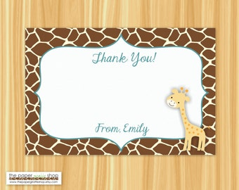 Giraffe Thank You Card   Giraffe Baby Shower   Giraffe Birthday Party   Giraffe Party