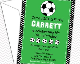 Soccer Sports Party Invitations PRINTABLE - Birthday Party - Baby Shower
