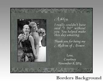 matron of honor picture frame, matron of honor gift, wedding picture frame, wedding in weddings, wedding in handmade, maid of honor gift