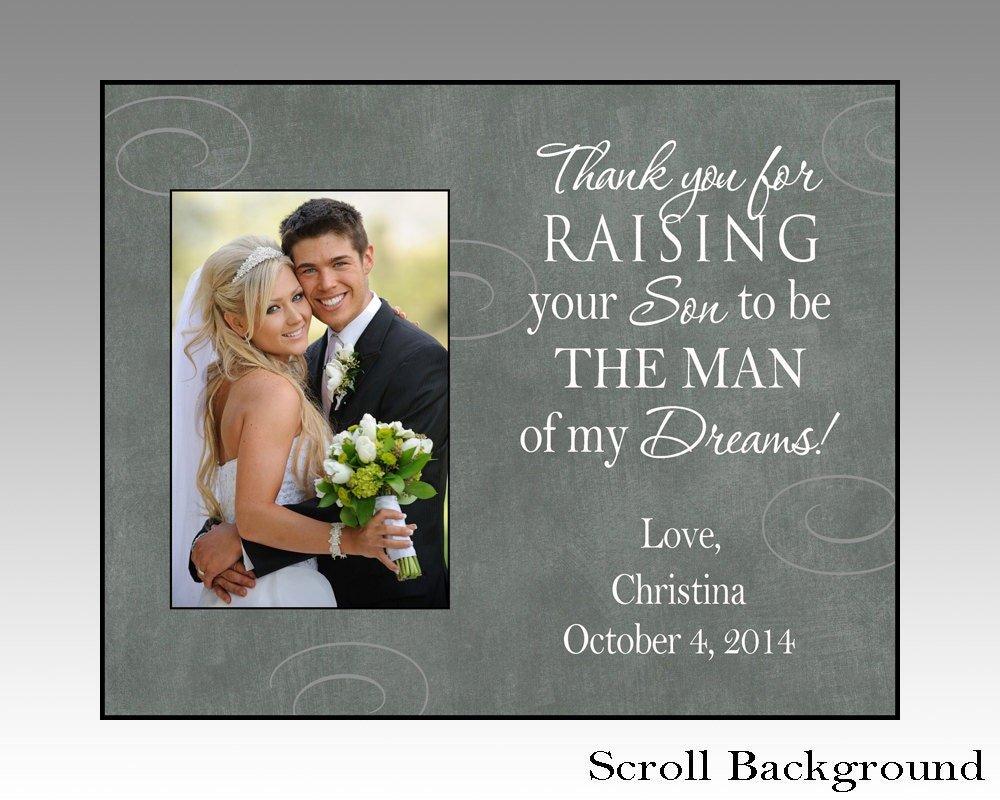 Wedding Gift For Mother In Law: Thank You For Raising Your Son Parent Wedding Gift