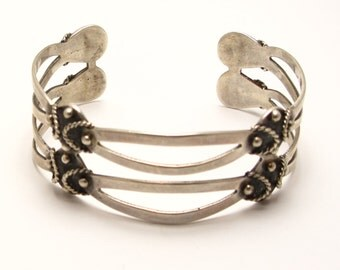 Sterling Mexico Cuff Bracelet - Weight 21.8 Grams - Reduced