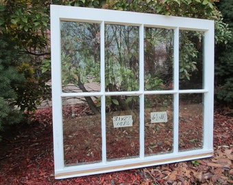 31 x 27 Vintage Window sash old 8 pane  from 1984