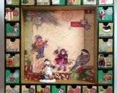 Reusable Advent Calendar Santas Village Wooden Countdown Calendar