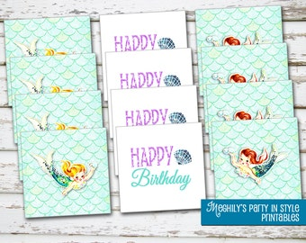 INSTANT DOWNLOAD - Mermaid Toppers