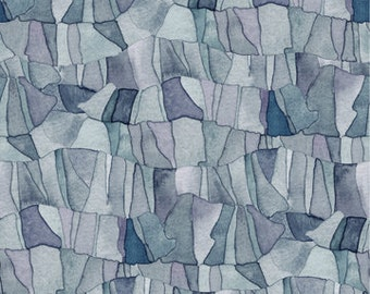Quilting Treasures Tres Chic Gray/Purple Abstract Print Yardage