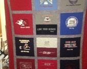 Custom Design T Shirt Quilt Memory Quilt Custom Order Quilt Custom Size - Using Your Shirts-DEPOSIT ONLY