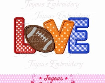 Instant Download Love Football Embroidery Applique Design NO:1617