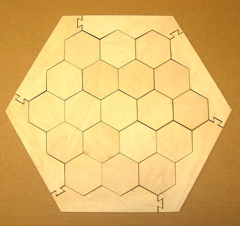 Settlers Of Catan Basic Game Board With Frame And 19 Hexagons