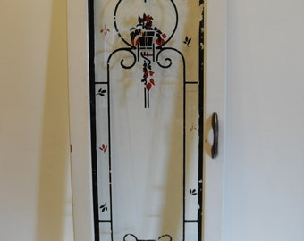 Vintage Reverse Painted Art Deco Cabinet Door