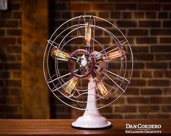 Fan Lamp | Westinghouse Model | Table Lamp | Desk Lamp | Bed light | Vintage Fan | Lamp | Steampunk lamp | Steampunk | Industrial Light