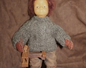 "14"""" Brad"" Collectors Handmade Leather Doll by Cheri Culvert Casler"