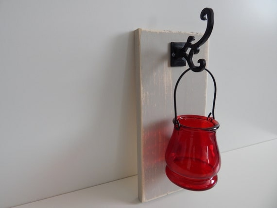 CLEARANCE...Wall Sconce...Tea light candle by Havensplace on Etsy
