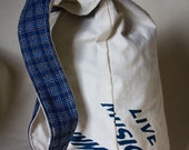 Canvas Hand-painted Large Japanese Knot Bag